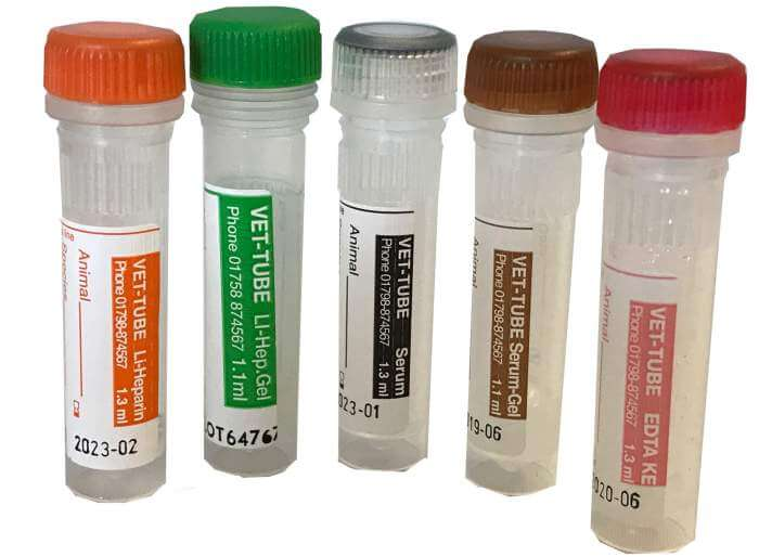 Blood Collection Tubes including the Vet-Tube range | Vetlab